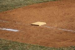 Baseball - 1st grund Royaltyfri Foto