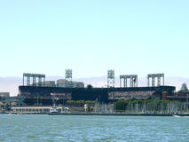 Baseball Stadium. From the San Francisco Bay Royalty Free Stock Photography