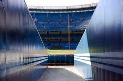 Baseball Stadium. View of baseball stadium from ground level stock image