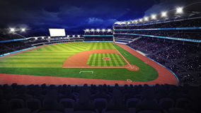 Baseball stadium with green grass playground Royalty Free Stock Images
