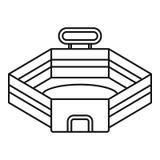 Baseball stadium icon, outline style vector illustration