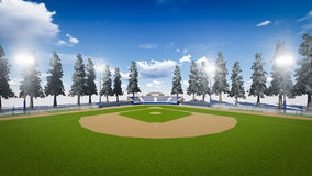Baseball stadium Royalty Free Stock Image