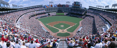 Baseball stadium, Texas Rangers v. Baltimore Orioles, Dallas, Texas Royalty Free Stock Image