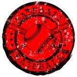 Baseball stamp Royalty Free Stock Images