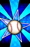 Baseball Star Burst Blue. A Star burst With a Baseball a that can be used for various backgrounds, sports or team themes, and other things that require a banner vector illustration