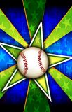 Baseball Star Burst Green. A Star burst With a baseball a that can be used for various backgrounds, sports or team themes, and other fun things that require a vector illustration