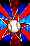 Baseball Star Burst Red. A Star burst With a baseball a that can be used for various backgrounds, sports or team themes, and other things that require a banner Stock Images