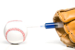 Baseball Steroids. The concept of human growth hormone use in sports Stock Photos