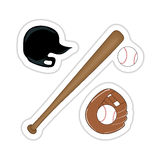 Baseball Sticker Stock Photography