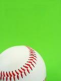 Baseball stitch. Red baseball stitch on green background Royalty Free Stock Images