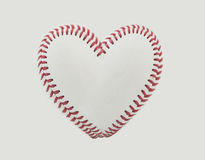 Baseball Stitches in the Shape of a Heart. Horizontal photography of baseball stitches in the shape of a heart Royalty Free Stock Photos