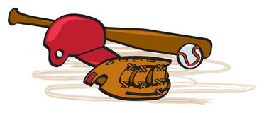 Baseball Stuff Royalty Free Stock Images
