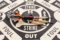 Baseball Style Dart Game Royalty Free Stock Image