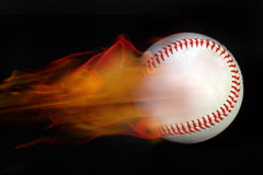 Baseball su fite Fotografia Stock