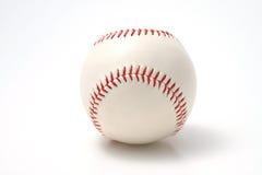 Baseball su una priorità bassa bianca Fotografia Stock Libera da Diritti