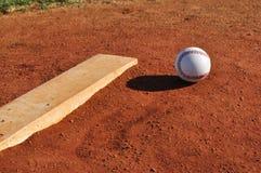 Baseball sul monticello della brocca Fotografia Stock