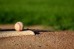 Baseball sul monticello di brocche Fotografia Stock