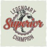 Baseball t-shirt label design Stock Photos