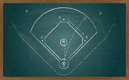 Baseball tactic on board Stock Photo