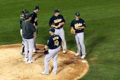 Baseball - talking strategy Royalty Free Stock Photo