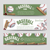 Baseball team banners. Sport horizontal banners template. Baseball team banners vector illustration Stock Image
