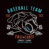 Baseball team emblem Stock Image