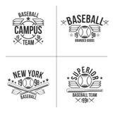 Baseball team emblems. Set of black emblems baseball team on white background Royalty Free Stock Images