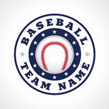 Baseball team logo. Template logo for a baseball club or competition. Baseball vector logo. Branding symbol of teams, national competitions, union, matches Stock Photography
