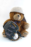 Baseball teddy bear Stock Photo
