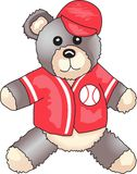 BASEBALL TEDDY BEAR Royalty Free Stock Photography