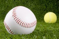 Baseball and Tennis balls Royalty Free Stock Photo