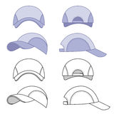 Baseball, tennis cap outlined template Royalty Free Stock Photo