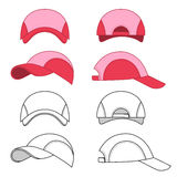 Baseball, tennis cap outlined template Stock Photo