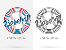 Baseball text graphic Stock Images