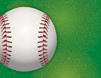 Baseball on Textured Grass Illustration Royalty Free Stock Image