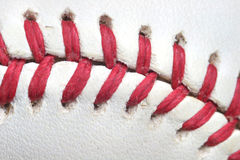 Baseball Threads Macro Stock Images