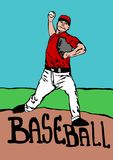 Baseball thrower Stock Photo