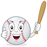 Baseball Thumbs Up Character with Bat Royalty Free Stock Image