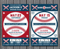 Baseball tickets. Set of vintage baseball tickets stock illustration