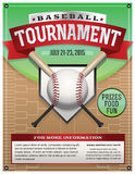Baseball Tournament Illustration Royalty Free Stock Photo