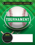 Baseball Tournament Template Illustration Stock Photos