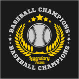 Baseball tournament vector emblem for t-shirt Royalty Free Stock Image