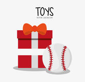 Baseball toy and game design Stock Photography