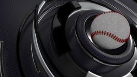 Baseball trägt Hintergrund zur Schau Lizenzfreie Stockfotos