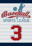 Baseball trägt Liga zur Schau lizenzfreie abbildung