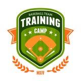 Baseball training camp emblem. Sports baseball training camp badge emblem design Stock Photo