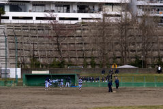 Baseball training, Sendai, Japan Royalty Free Stock Photos