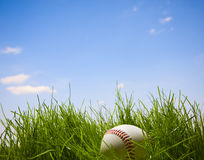 baseball trawa Obraz Royalty Free