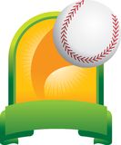 Baseball trophy. Baseball flying out of a trophy Stock Photography