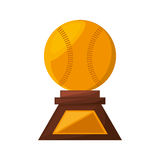 Baseball trophy championship isolated icon. Vector illustration design Stock Photos